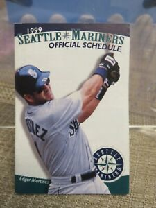 PAIR of SEATTLE MARINERS 1999 POCKET SCHEDULES
