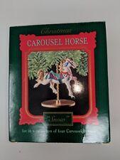 Carousel Horse Snow 1st Collector's Series 1989 Hallmark Christmas Ornament