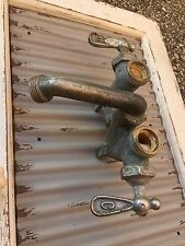 Vintage Laundry Faucet Brass Nice Hot Cold Letters FREE SHIP