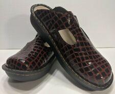 Ingaro Clogs Mules Black Red Burgandy Nursing Nurse Shoes Womens Size 10 EUC