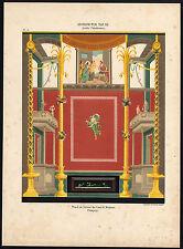 Antique Print-DESIGN-ORNAMENTS-DECORATION-POMPEII-PLATE 20-Racinet-1880