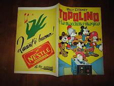 WALT DISNEY ALBO D'ORO N°58 TOPOLINO E LA MACCHINA MAGICA 1*RISTAMPA 1953