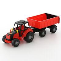 WADER Little Farmer Traktor mit Anhänger Trecker Kinderspielzeug Sandkasten