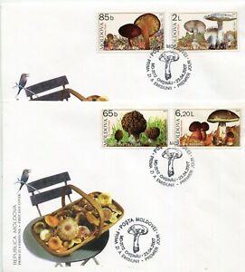 Moldova 2007  Mushrooms,Funghi,complete set stamp  rare FDC's