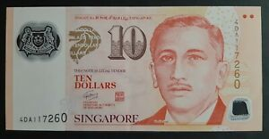 Singapore 10 dollars 2014 (Polymer) SUP/AU   A-10
