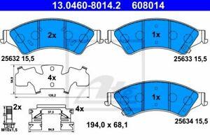 ATE (13.0460-8014.2) Bremsbeläge, Bremsklötze vorne für FORD