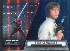 Star Wars Evolution 2016 Blue Parallel Card #30 Luke Skywalker - Rebel Commander