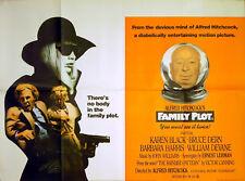 FAMILY PLOT 1976 Alfred Hitchcock, Barbara Harris, Bruce Dern UK QUAD POSTER