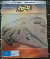Star Wars Solo Story 4k & Blu Ray 3 Discs Set Steelbook Limited Ed