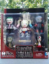 MEZCO TOYZ Mini Mez-itz Suicide Squad 5 pack Joker Harley Croc Deadshot Katana