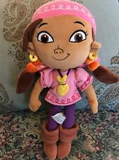 "Disney Parks Exclusive Izzy Plush Jake & The Neverland Pirates Doll 12"" Girl #F4"