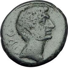 AUGUSTUS 27BC Philippi Macedonia PRIESTS Founding City Oxen Roman Coin i65376