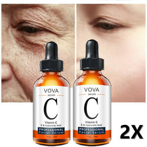 2X Vitamin C Face Serum with Hyaluronic Acid Anti Ageing/Aging Anti Wrinkle 30ml