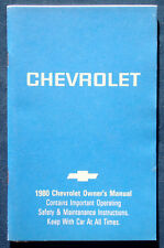 Owner's Manual * Betriebsanleitung 1980 Chevrolet Caprice  Impala (USA)