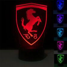 Night Light CAR LOGO 3D Acrylic LED Touch Table Desk Lamp Birthday Gift 7Colour