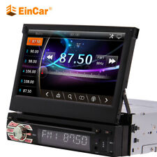7 Inch 1 Din Touch Screen CD DVD Car Radio 8GB GPS Navigation map card BT Stereo