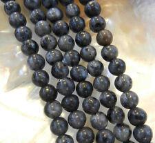 """Natural 4mm India Black Gray Labradorite Gems Round Loose Beads 15"""""""