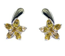 Yellow 925 Sterling Silver genuine excellent Citrine supplies Earring AU gift