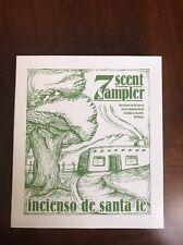 7 Scent Incense Sampler Incensio de Santa Fe w/Holder Natural Wood