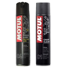 Set limpiar lubrica cadena Motul C4 CHAIN LUBE 400ml + C1 Chain CLEAN 400ml