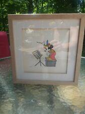 "Framed Disney Treasures ""Band Concert"" Mickey Serigraph Etching COA"