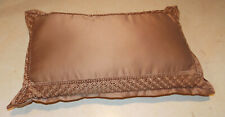 Dark Beige Satin Bolster Pillow / Lumbar Pillows  23  x 13