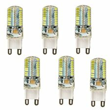 6Pcs 5W G9 Energy Saving 64-LED Corn Bulb Crystal Spotlight Lamps 110V White