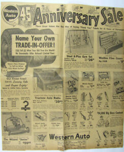 Vintage 1954 Western Auto Fishing Lures Newspaper Ad