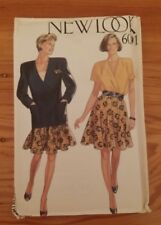 VINTAGE NEW LOOK LADIES COAT TOP SKIRT PATTERN 6091 SIZE 8-18 FREE SHIPPING