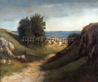 COURBET PAYSAGE GUYERE ARTIST PAINTING REPRODUCTION HANDMADE OIL CANVAS REPRO