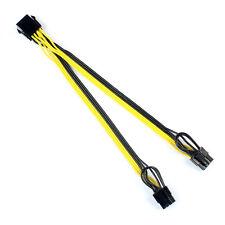 100PCS CPU 8Pin to Graphics Video Card Double PCI-E 8Pin(6Pin+2Pin)Power Cable