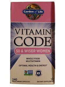 Garden of Life Vitamin Code 50 & Wiser Women Multivitamin Capsule  - 240 Count