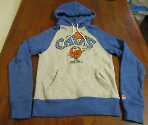 HOMAGE Brand Size XS Adult Retro HOODIE~Cleveland CAVS~Blue/Gray/Orange EUC