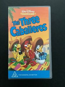 Disney Vhs Video New Sealed The Three Caballeros Vhs Video