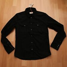 Nuovi JEANS Nudie, Camicia Jeans Denim Shirt Jonis Dry Pitch Black M