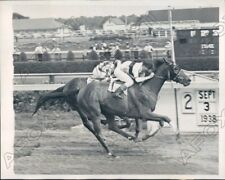 1938 Aqueduct Race Track Race Horse Spring Meadow Wins Press Photo
