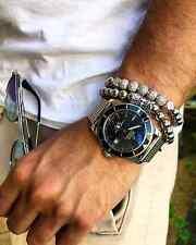 Luxury Men Micro Pave Cubic Zircon Crown 8mm Disco Ball Braided Macrame Bracelet