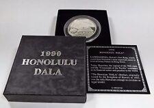 Royal Hawaiian Mint 1990 Honolulu Dala 1 Troy Oz 999 Fine Silver *COUNTERSTRUCK*