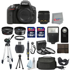 Nikon D5300 FOTOCAMERA REFLEX DIGITALE CORPO + 3 Lenti 18-55mm VR + KIT All You Need