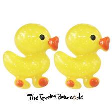 TFB-Brillo Pato Aretes Peculiar Retro Kitsch Kawaii Lindo Patito baño