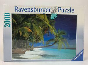 1992 Ravensburger Jigsaw Puzzle 2000 Piece Traumstrand Beach Scene New