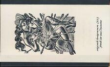 EX43104 EX Libris FRANK-IVO VAN DAMME nude women art fine x2