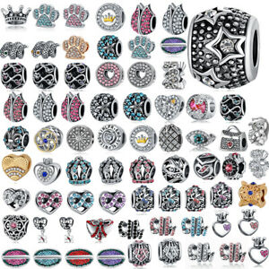 European Silver DIY Charms Beads Fit S925 Sterling Bracelet Women Jewelry Gifts