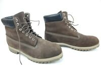 Timberland 6-Inch Premium Waterproof Dark Chocolate Nubuck Men's Boots Sz 15 M