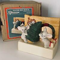 """Vtg 1988 House Of Lloyd Christmas Yuletide Mice Musical Light Up 54-734 Decor 5"""""""