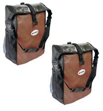 Fahrrad Gepäcktaschen Set Rollverschluß d'rot/ schwarz Gepäckträger Schultergurt