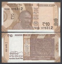 10 India Rupee Bank Note Currency NEW 2018 Date of Issue Gandhi NEW Sun Temple
