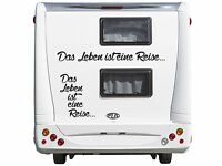 WD Autoaufkleber Das Leben ist eine Reise Wohnmobil Wohnwagen DUB Sticker 90x8cm