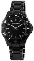 Excellanc Herrenuhr Schwarz Titan-Look Analog Metall Armbanduhr X2800040003
