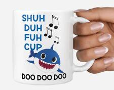 Funny baby daddy shark Doo Doo doo Coffee mug cup birthday Christmas present
